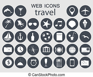 Iconos de viaje ilustración vectorial