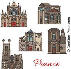 Iconos de viajes franceses, arquitectura de Troyes