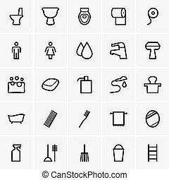 iconos del baño