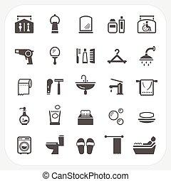 Iconos del baño listos