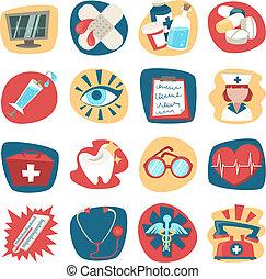 Iconos del hospital listos