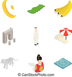 Iconos del Islam, estilo de dibujos animados