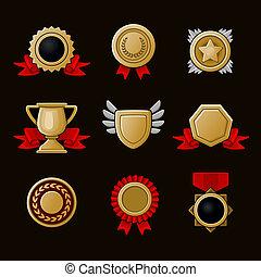 iconos del logro