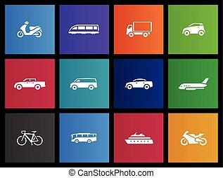 iconos del metro, transporte