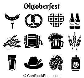 iconos del Oktoberfest