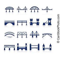 iconos del puente listos