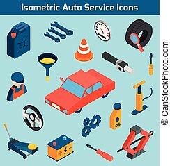 Iconos del servicio de autos listos
