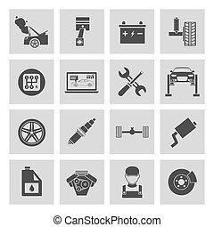 iconos del servicio de coches
