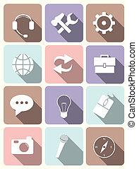 iconos del sistema, diseño plano