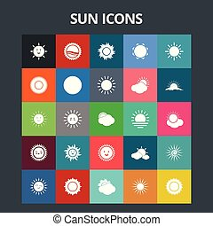 iconos del sol