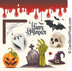 iconos del vector de Halloween