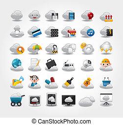 iconos del vector para la red de nubes