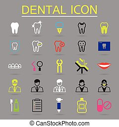 Iconos dentales listos
