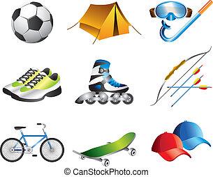 iconos deportivos listos