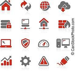 Iconos desarrolladores web - serie redico