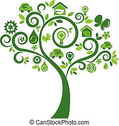 iconos ecológicos, árbol 2
