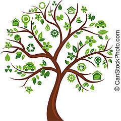 iconos ecológicos, árbol 3