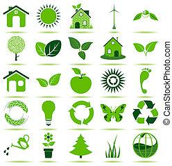 iconos ecologistas verdes