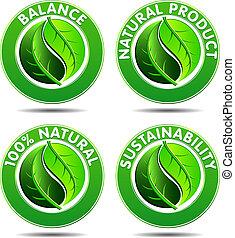iconos ecologistas verdes SET 1