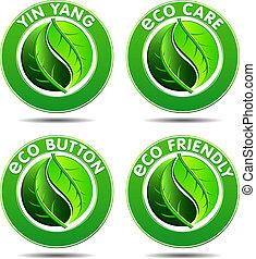 iconos ecologistas verdes SET 2