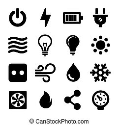 Iconos eléctricos