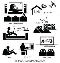 Iconos electrónicos caseros