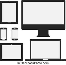 iconos electrónicos
