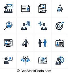iconos, empresa / negocio, empleo