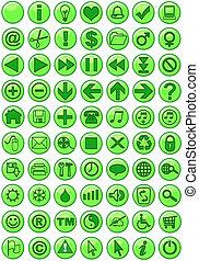 iconos en verde