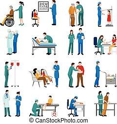iconos enfermeros listos