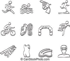 iconos escoceses, triatlón
