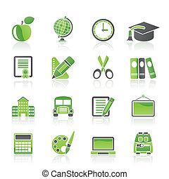 iconos escolares y educativos