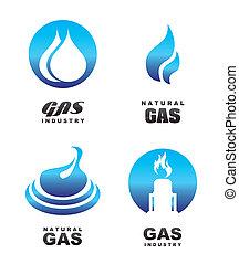 iconos, gas