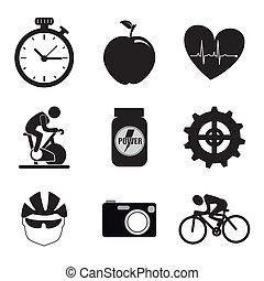 iconos, girar