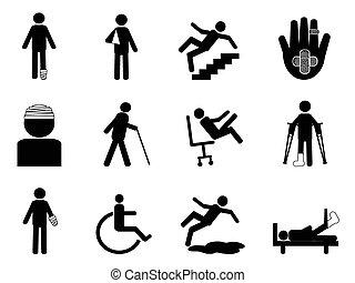 iconos heridos preparados
