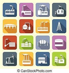iconos industriales planos
