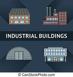iconos industriales y empresariales