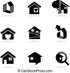 iconos inmobiliarios y logos