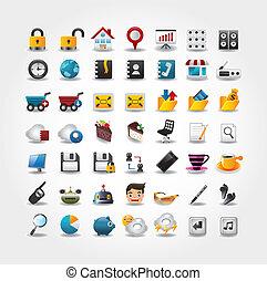 iconos, internet de la tela, conjunto, sitio web, y, iconos