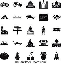Iconos islámicos establecidos, estilo simple