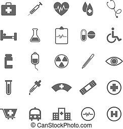 iconos médicos de fondo blanco