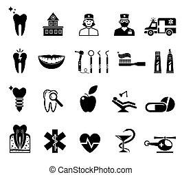 iconos médicos de fondo blanco.