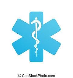 iconos médicos en blanco