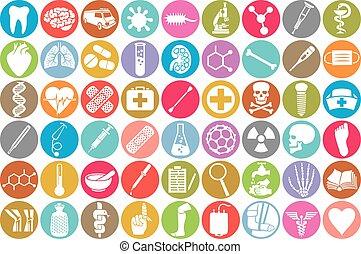 Iconos médicos listos