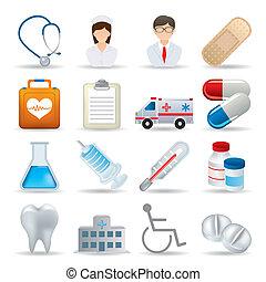 iconos médicos realistas preparados
