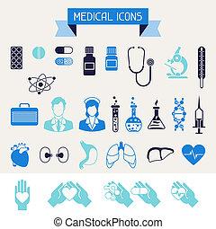 Iconos médicos y de salud listos.