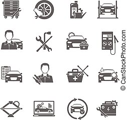 Iconos mecánicos listos