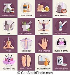 Iconos medicinales alternativos establecidos