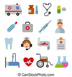 Iconos medicinales listos