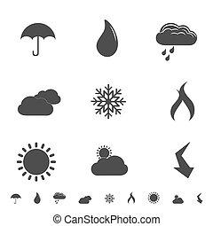 iconos meteorológicos y símbolos